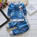 babzapleume Brand Kids Boys Clothes Baby Clothing Tops Pant 2PCS Set Fashion Denim Children Boys Sports