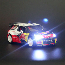 Citroen-v Racing Metal Car Model 1:26 Simulation Acousto-optic Alloy Car Diecast  Pull Back Carro Toy Birthday Gift to Kid(China (Mainland))
