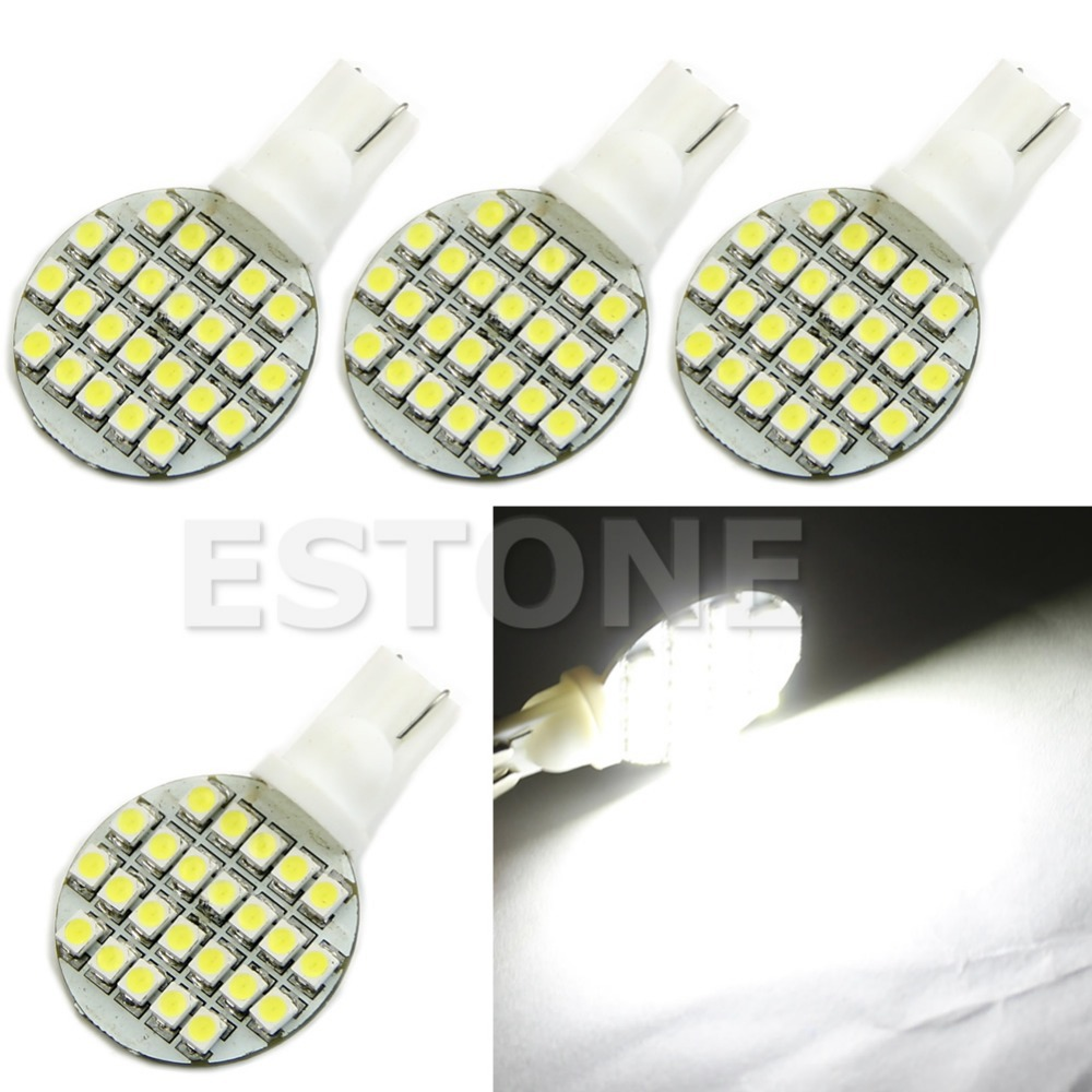 A96 Free Shipping 4pcs T10 194 921 W5W 1210 24SMD LED RV Landscaping Light Lamp Bulb Pure White(China (Mainland))