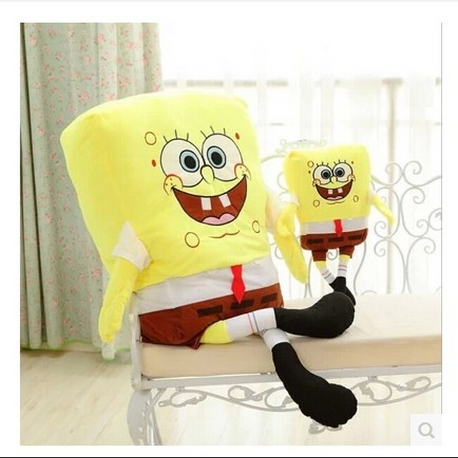 Гаджет  50cm Sponge Bob Baby Toy Spongebob And Patrick Plush Toy Soft Anime Cosplay Doll For Kids Toys Cartoon Figure Cushion  None Игрушки и Хобби
