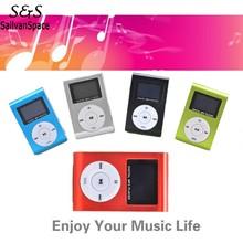 2016 Mini Clip Design Digital LED Light Flash MP3 Music Player With TF Card Slot 5 Colors Optional FM Radio Support 32GB 58