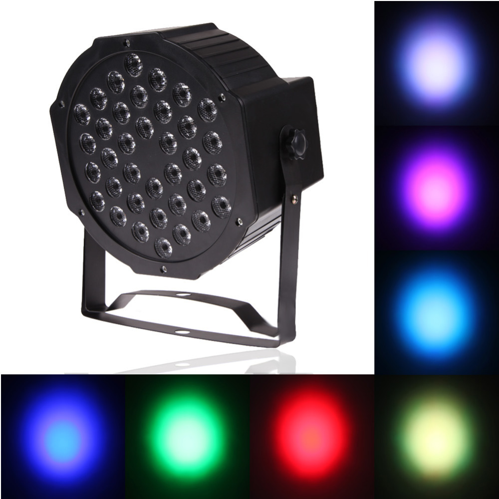 Free Shipping 36W 36 LED Flat Par Lights Lamp with US Plug for Club Party US Standard(China (Mainland))