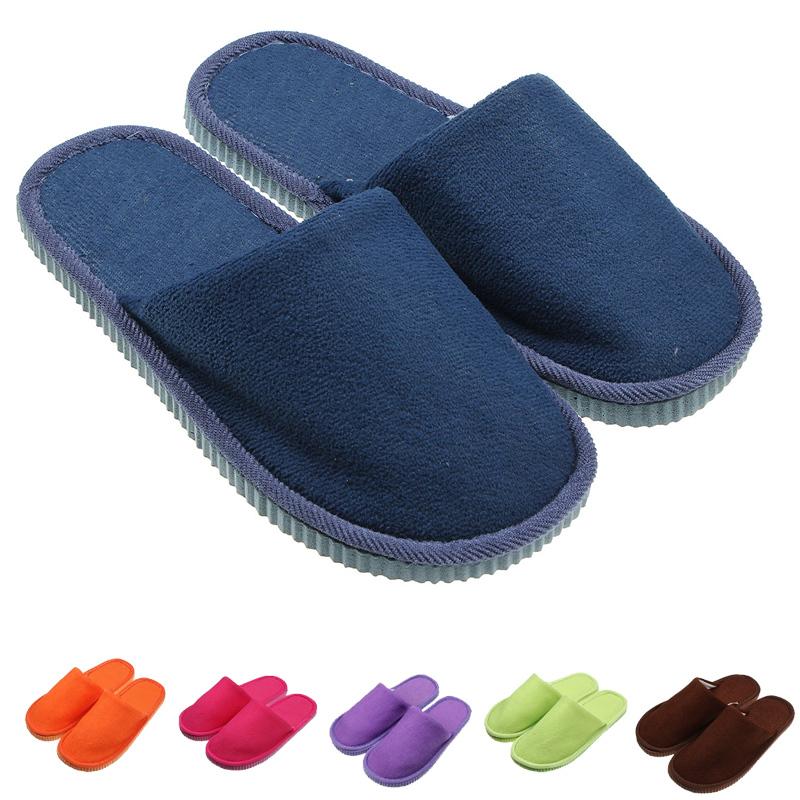 Bedroom Men Women Anti-slip Shoes Soft Warm Cotton House Indoor pantufla home Slippers Retail&Wholesales(China (Mainland))