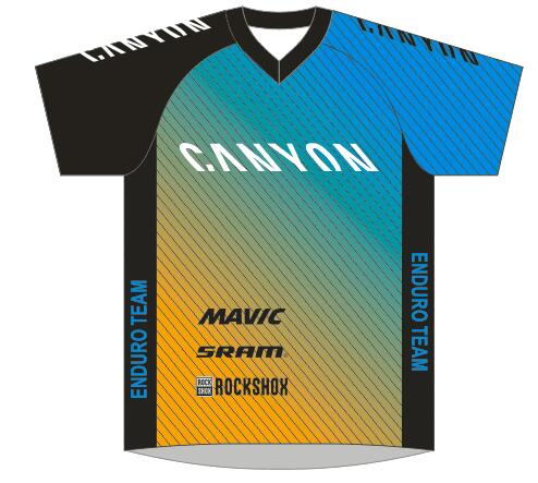 2016 New MTB Jersey of the Canyon Factory Enduro Team mountain bicycle top shirt DH MX all mountain cycling jersey European size(China (Mainland))