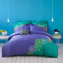4 Pcs100% Cotton King Queen Bedding sets Luxury Fashion Bedclothes Bed linen Embroidery Duvet cover Bed sheet Pillowcases(China (Mainland))