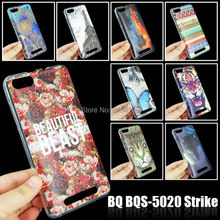 Soft TPU More Colorful Patterns Case for BQ BQS-5020 Strike 5 inch Skin Gel Soft Cover Cell Phone Accessories(China (Mainland))