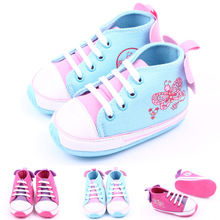 2016 hot new fashion baby girl's canvas sneakers butterfly printing applique kid's children's shoes skid-proof baby toddler shoe(China (Mainland))