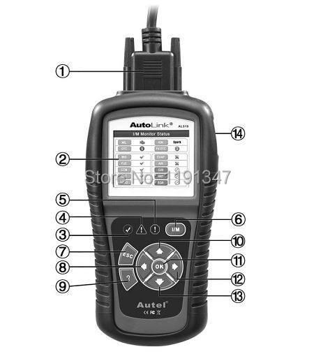 Купить Autel Автоссылка AL519 Авто Code Reader OBD II и CAN Scan Tool al 519 Получает Родовых выключает Свет Двигателя Проверки бесплатное обновление