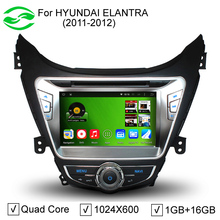 """RK3188 8"""" Capacitive Screen Pure Android 2 Din Car PC For Hyundai Elantra 2011 2012 With Stereo DVD GPS 3G WiFi(China (Mainland))"""