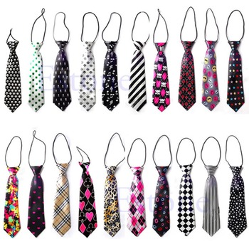 Fashion Girls Boys Elastic Tie 30 Styles Wedding Party Necktie Children Kids free shipping