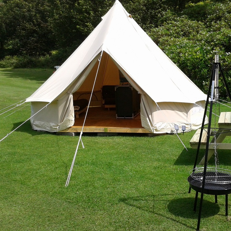 Outdoor leisure camping canvas bell tent sibley tent china for Colorado canvas tents