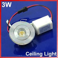 3W Cabinet LED Ceiling Indoor Down Light Fixture Recessed Lamp White 85~265V Free shipping(China (Mainland))