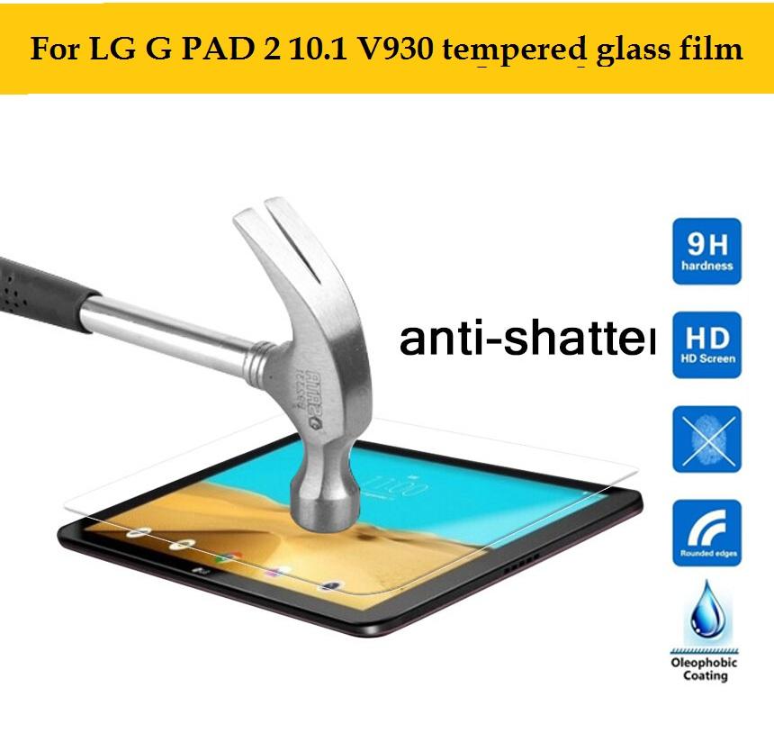 Best premiem 0.3mm 9H Tempered Glass film for LG G PAD 2 10.1 V940N V935 tablet HD film front Anti-shatter Screen Protector film