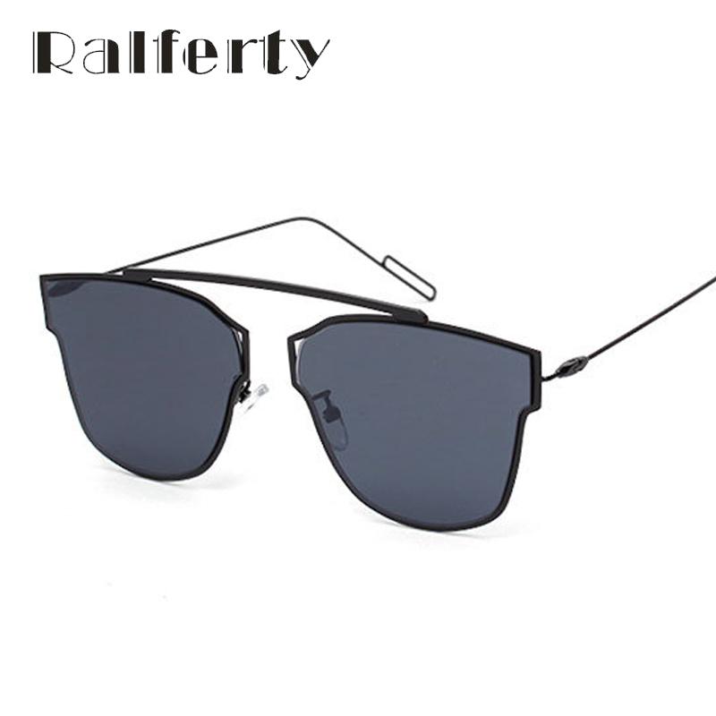 Ralferty Luxury Ladies Butterfly Cateye Sunglasses Women Oversized Pink Silver Mirror Sun Glasses UV400 Oculos lunette 1782(China (Mainland))