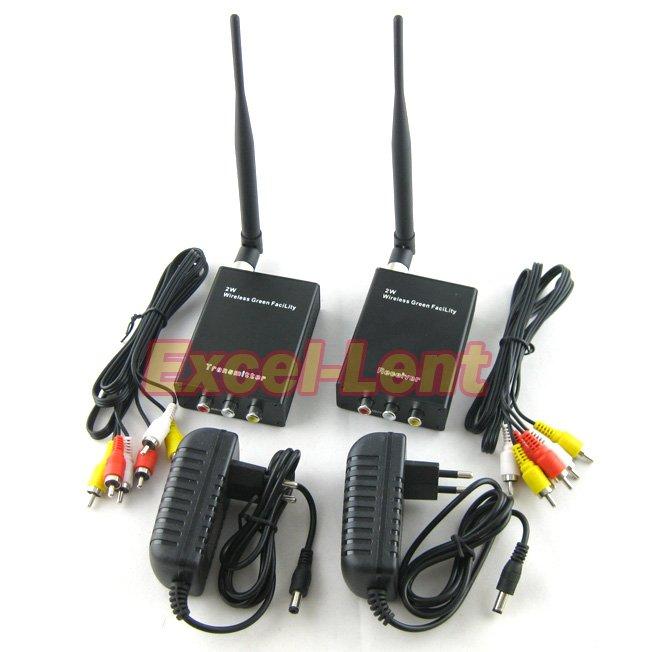 Newest!2000M 2W 2.4G Wireless AV Video Transceiver CCTV,Sender Receiver (Transmitter&Receiver) - Excel-Lent store