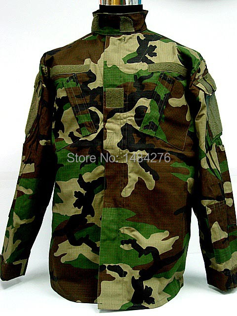 US Army Camo Woodland BDU Uniform Set War Game Tactical Combat Shirt +Pants - Lintty store