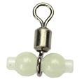 Zo on Z6065 100pcs lot Barrel Swivel Fluorescent Beads With Detachable Fish Eye Snap Luminous Sea