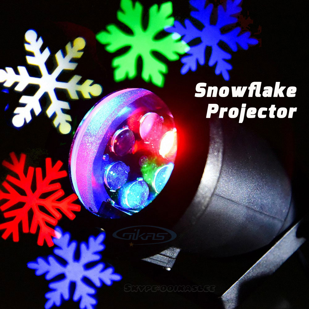 Outdoor christmas snowflake light projector for holiday - Snowflake exterior christmas lights ...