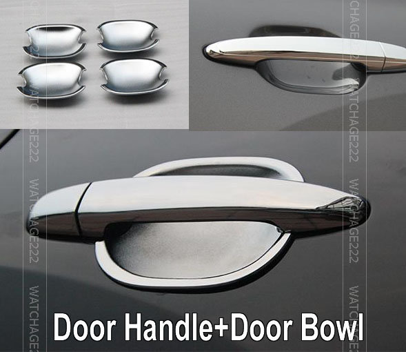 accessories fit for toyota camry 2007 2008 2009 2010 2011 chrome door handle cover bowl cup cap. Black Bedroom Furniture Sets. Home Design Ideas
