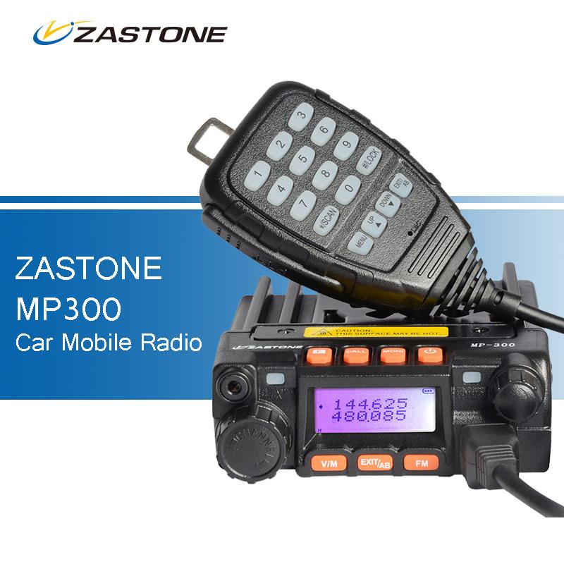 ZASTONE MP300 25W Car CB Walkie Talkie Mini Mobile Radio FM Transceiver Dual Band UHF VHF Two Way Ham Radio QYT KT-8900 Style(China (Mainland))