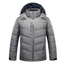 Men Warm Collar Hooded Parka Man Winter Waterproof Thick Duck Down Coat Outwear Down Jacket M to XXXL S3