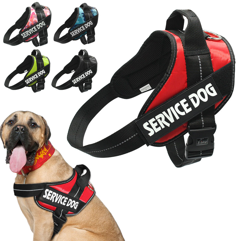 Nylon Comfort Service Dog K9 Vest Harness Adjustable Come With 2 Reflective Patches Perfect For Small Medium Large Dogs XS-XL(China (Mainland))