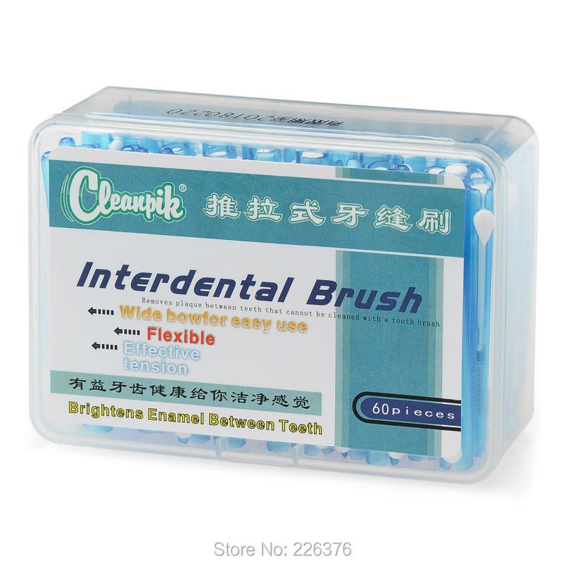 Гаджет  Push-Pull InterdentalBrush Tothbrush Orthodontic Wire Is Not Imported From Germany 60/ box With Free Shipping None Красота и здоровье