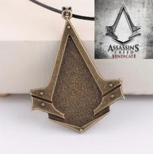 Hot New Oum Assassin's Creed Syndicate Game Cosplay Logo Mark Alloy Necklaces Japan Animation Small Pendant Wholesale