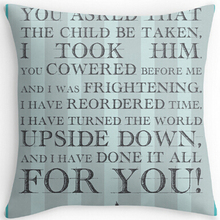 Labyrinth Jareth Movie Quote Letters Covers Square Pillowslip