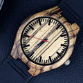 2016 festival Memorial Day gift Enmex natural stripe Bamboo wristwatch work of art handmade natural wood
