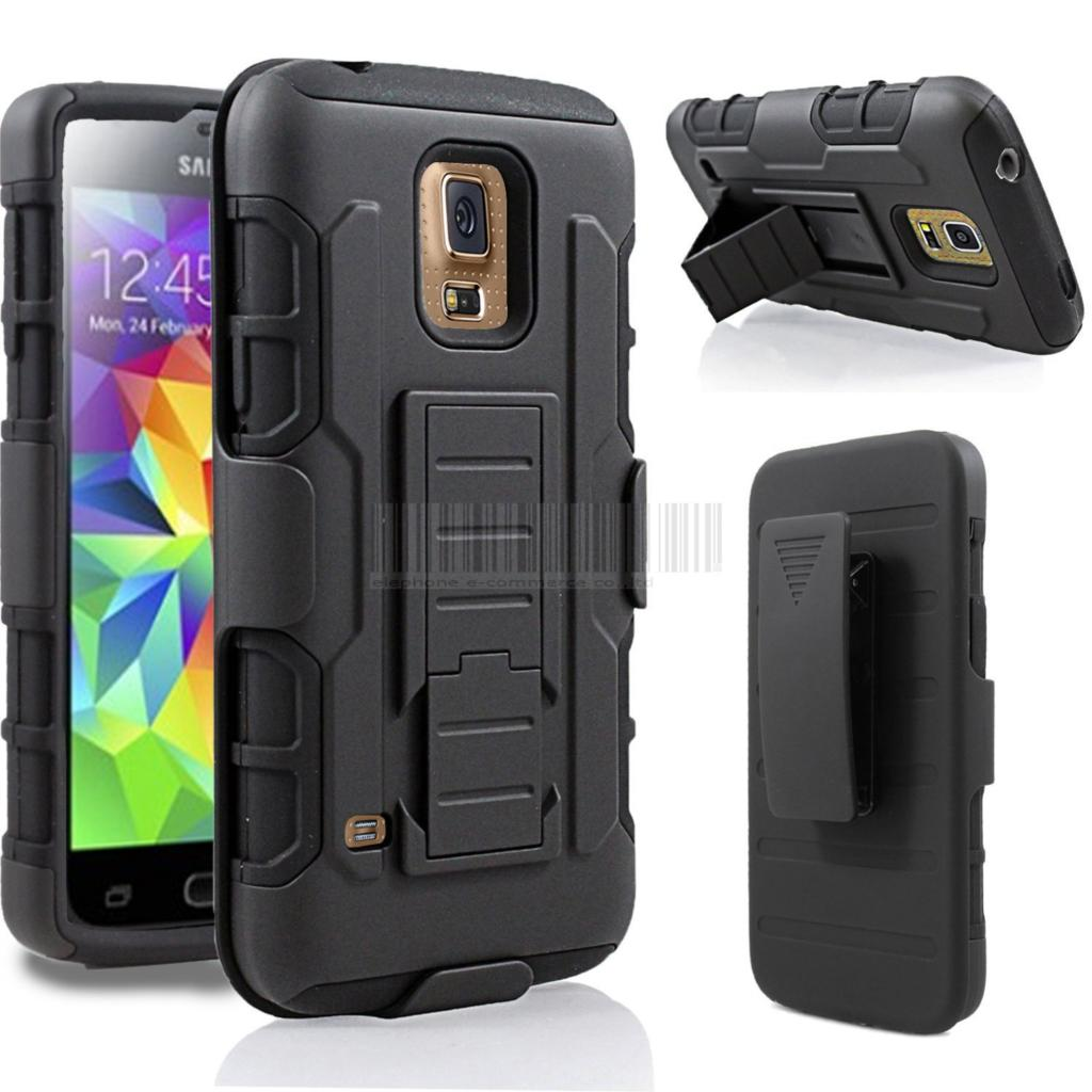 Heavy Duty Rugged Armor Hybrid Holster Stand Hard Case with Belt Clip For Samsung Galaxy S3/S4/S5 Mini Active /S6/S6 Edge(China (Mainland))