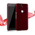 """Ultrathin Frosted Case for Huawei Nexus 6P 5.7"""" Hard Plastic Cover Scratchproof Fingerprint Proof Shell Black Red"""