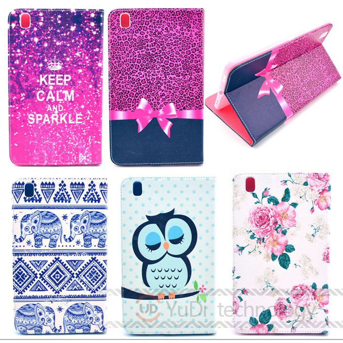 Fashion Painted Pu leather stand holder Cover Case For Samsung tab pro 8.4 T320 T325 Tablet Accessories S3D25D(China (Mainland))