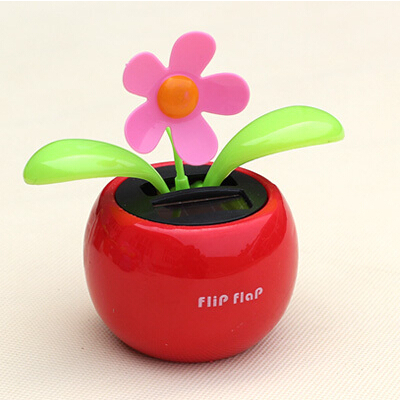 [ Special Offer ] New Car SunFlower Solar Powered Flip Flap Sun Flower Dancing For Home Decoration Auto Toy Gift Solar Flower(China (Mainland))