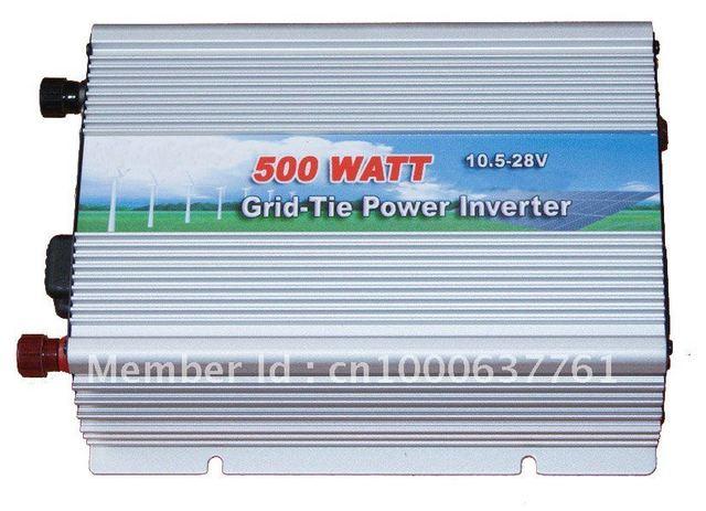 500W Input DC 12V, or DC24V , Output 100V,110V,120VAC, Free shipping PV Grid Connected Inverter