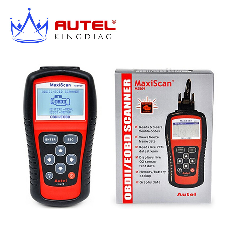 2016 top sale Free Shipping Autel MaxiScan OBD Scan Tool OBD2 OBD II Scanner Auto Code Reader car escanner(China (Mainland))