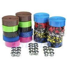 Free Shipping Cycling Handle Belt Bike Bicycle Cork Handlebar Tape Wrap +2 Bar Plug