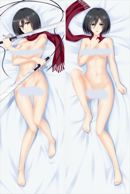 Free Shipping Anime Dakimakura hugging pillow case  Mikasa Ackerman Attack on Titan  YC090