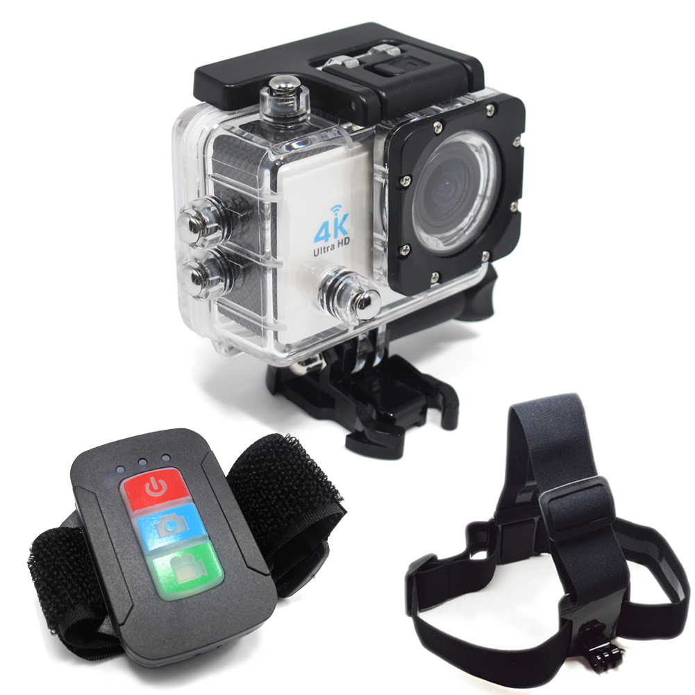 Фотография Action Camera Waterproof  Full HD Cam Action Video Action Camera 4k Mini DV Gopro Style Remote Control Ultra Headband Q3H+YTD