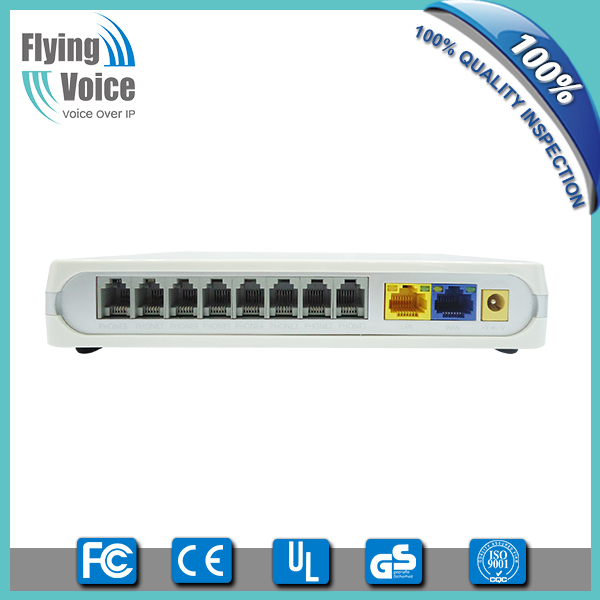 Flyingvoice Rj45 to rj11 8 FXS port sip voip ata with 2 Gigabit ethernet ports G508(China (Mainland))