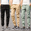 2016 Fashion mens joggers casual Men  pants  Sweatpants brand sports trousers men pants Khaki black joggers sweatpants