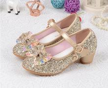 Children s Sequins Shoes Enfants 2018 Baby Girls Wedding Princess Kids High  Heels Dress Party Shoes For eeb3bae37981