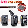 Free Shipping D900 Novatek 96650 32GB Full HD 1080P Police Body Lapel Worn Video Camera Recorder