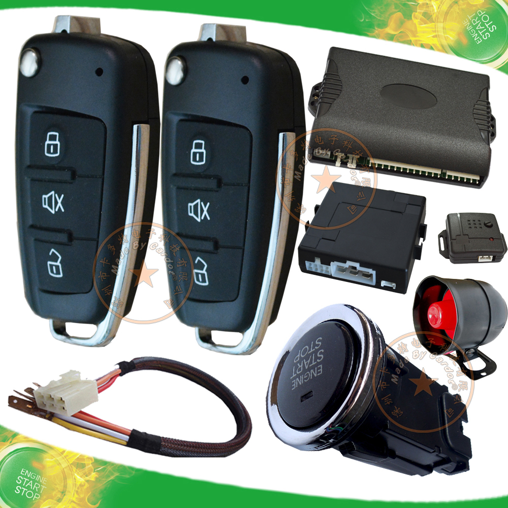 remote start car security system ignition auto lock engine off auto unlock car door remote keyless entry start stop button(China (Mainland))