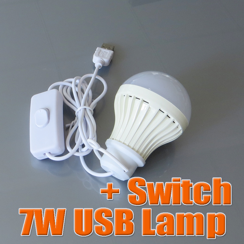 7W USB lamp mini Lights With Switch 5V output for Notebook Computer Laptop PC powerbank LED lamps(China (Mainland))