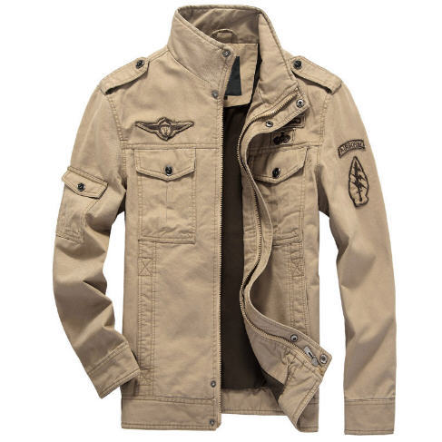 German Air Force One Fall And Winter Clothes Men s Bomber Jacket Stand Collar Cotton Plus