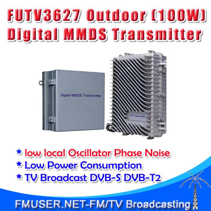 Freeshipping 100w FMUSER FUTV3627 Outdoor transmitter digital TV Broadcast MMDS 2.5G 2.7G Broadband dvb-s dvb-t2 amplifier(China (Mainland))