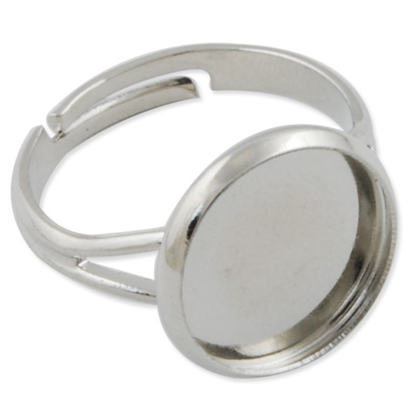 wholesale fashion silver plated adjustable flat ring