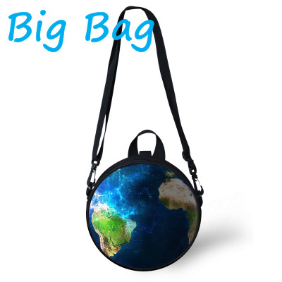 New Arrival 2016 Hot sale Galaxy 3d Planet printing messenger bags children school bag Kids(China (Mainland))