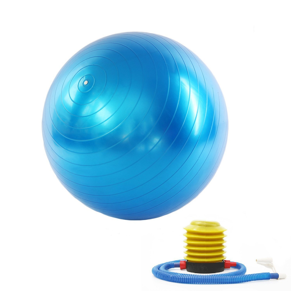 New 65cm Gym Fitness Yoga Exercise ball with Hand Pump for men and women(China (Mainland))